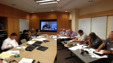 Emmitsburg, Md., June 26, 2013 -- Tompkins County, NY, staff participate in the 10th in a monthly series of Virtual Table Top Exercises (VTTX) that focused...