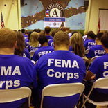 Vicksburg, Miss., September 13, 2012 -- Image from the Induction Ceremony for the inaugural class of FEMA Corps members. FEMA Corps members assist with disaster preparedness, response, and recovery activities, providing support in areas ranging from working directly with disaster survivors to supporting disaster recovering centers to sharing valuable disaster preparedness and mitigation information with the public.
